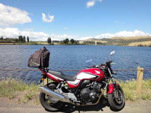 Honda CB400 rental hire Tasmania